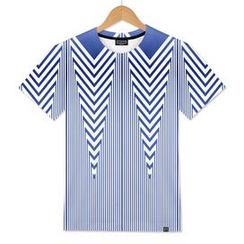 Art Deco Blue Nautical Stripes