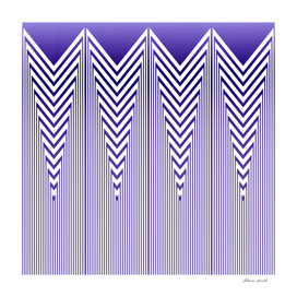 Art Deco Nautical Stripes in Lilac