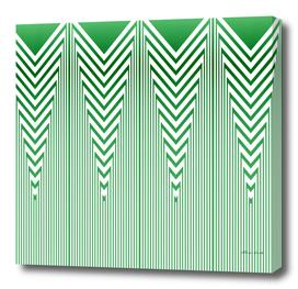 Art Deco Nautical Stripes in Mint Green