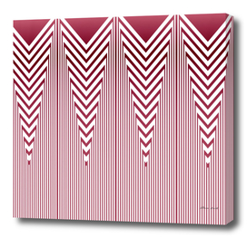 Art Deco Nautical Stripes in Dusty Pink