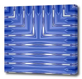 Art Deco Metallic Blue Stripes