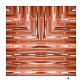 Art Deco Metallic Rust Stripes
