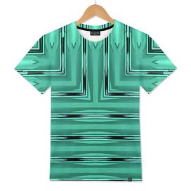Art Deco Metallic Green Stripes