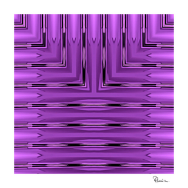 Art Deco Metallic Purple Stripes