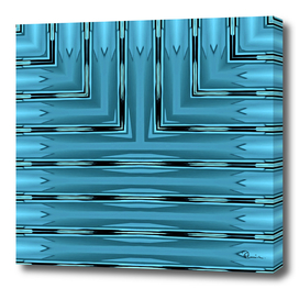 Art Deco Metallic Teal Stripes