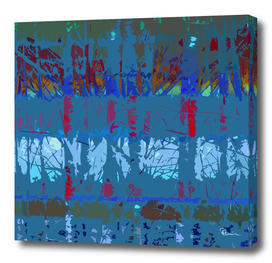 Tropical Trees in Abstract Teal and Pink