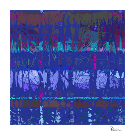 Tropical Trees in Abstract Cubist Maroon and Purple