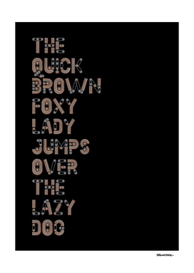 The quick brown foxy Lady - Creator Color Font