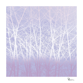 Frosty Winter Branches in Icy Lilac