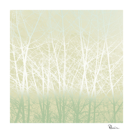 Frosty Winter Branches in Icy Sage Green