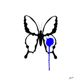 Butterfly with blue dot