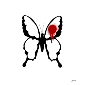 Butterfly with red dot