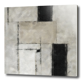 Abstract brush strokes in black and gray tone.