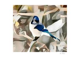 Modernist Winter Blue Bird