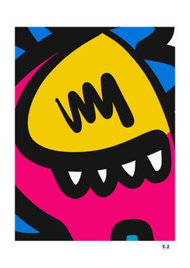 Cool Yellow Monster Graffiti Art