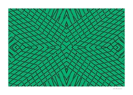 geometric symmetry line pattern abstract in green