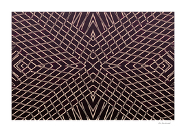 geometric symmetry line pattern abstract in brown