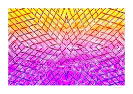 geometric symmetry line pattern abstract in purple pink