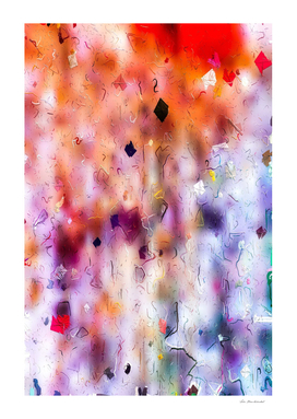 colorful painting texture abstract background in orange