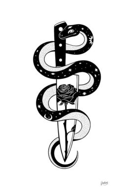 Black Snake knife roses