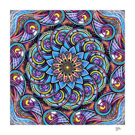 Mandala HD Spiral Flower
