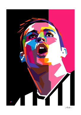 Cristiano Ronaldo Juve Pop Art