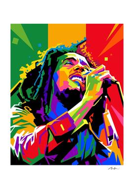 Bob Marley Pop Art Wpap