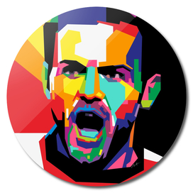 Juan Mata MU Wpap Pop Art