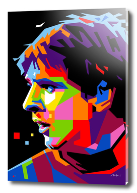 Lionel Messi Barcelona Pop Art