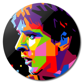 Lionel Messi Barcelona Pop Art