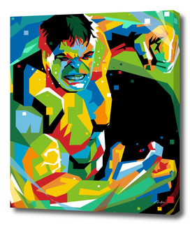 The Green Hulk Pop Art Wpap