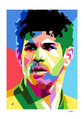 Diego Costa Brasil Pop Art WPAP