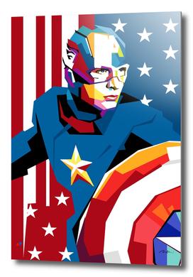 Captain America Pop Art Wpap