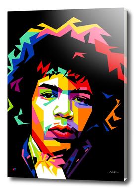 Jimi Hendrix Pop Art Wpap
