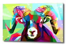 sheep pop art wpap