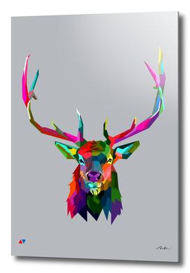 Elk pop art wpap