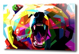 bear pop art wpap