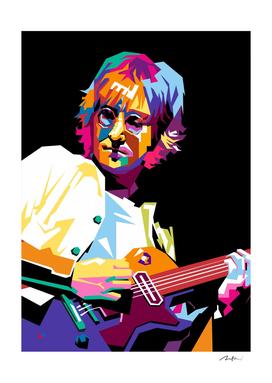 john lennon play guitar pop art wpap 02