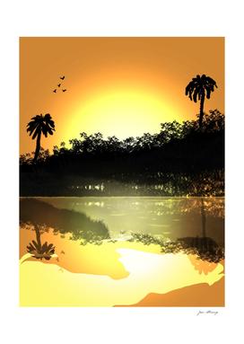 River's Sunset
