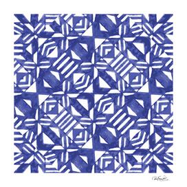 Linear Geometric Print Pattern Mosaic