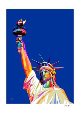 liberty new york pop art wpap