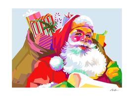 Colorful Santa Klaus