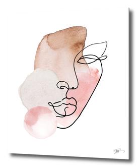 female line art portrait
