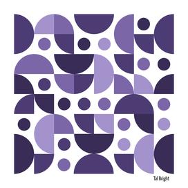 70s retro pattern - vintage colors - purple