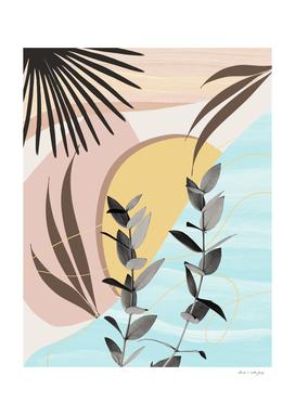 Eucalyptus Tropical Summer Oasis #3 #tropical #wall #art