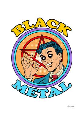 black metal retro