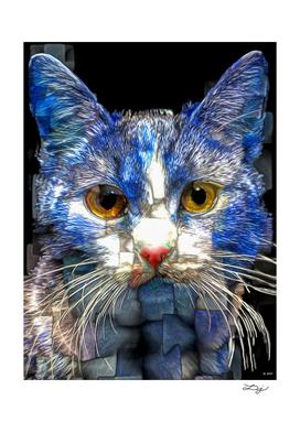 Blue Mosaic Cat