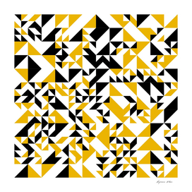 Yellow and Black Triangle Art