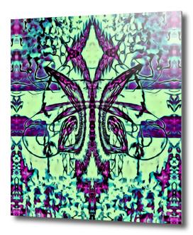 Jardin Fleur de Lis Paris Abstract Print