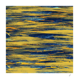 Yellow and blue horizontal abstraction.
